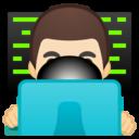 Emoji: 👨🏻💻 Android Oreo; U+1F468 U+1F3FB U+200D U+1F4BB