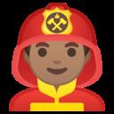 Emoji: 👨🏽🚒 Android Oreo; U+1F468 U+1F3FD U+200D U+1F692