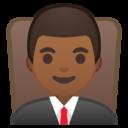 Android Oreo; U+1F468 U+1F3FE U+200D U+2696 U+FE0F; Emoji