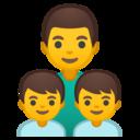 Android Oreo; U+1F468 U+200D U+1F466 U+200D U+1F466; Emoji
