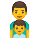 Android Oreo; U+1F468 U+200D U+1F466; Emoji