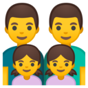 Android Oreo; U+1F468 U+200D U+1F468 U+200D U+1F467 U+200D U+1F467; Emoji