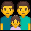 Emoji: 👨👨👧 Android Oreo; U+1F468 U+200D U+1F468 U+200D U+1F467