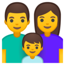 Emoji: 👨👩👦 Android Oreo; U+1F468 U+200D U+1F469 U+200D U+1F466