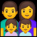 Android Oreo; U+1F468 U+200D U+1F469 U+200D U+1F467 U+200D U+1F466; Emoji