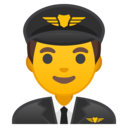 Android Oreo; U+1F468 U+200D U+2708 U+FE0F; Emoji
