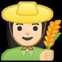 Emoji: 👩🏻🌾 Android Oreo; U+1F469 U+1F3FB U+200D U+1F33E