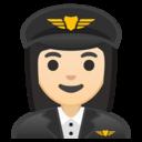Android Oreo; U+1F469 U+1F3FB U+200D U+2708 U+FE0F; Emoji