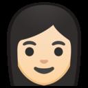 Android Oreo; U+1F469 U+1F3FB; Emoji