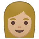Android Oreo; U+1F469 U+1F3FC; Emoji