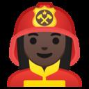 Android Oreo; U+1F469 U+1F3FF U+200D U+1F692; Emoji