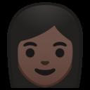 Emoji: 👩🏿 Android Oreo; U+1F469 U+1F3FF