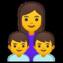 Android Oreo; U+1F469 U+200D U+1F466 U+200D U+1F466; Emoji