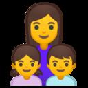 Emoji: 👩👧👦 Android Oreo; U+1F469 U+200D U+1F467 U+200D U+1F466
