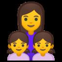 Android Oreo; U+1F469 U+200D U+1F467 U+200D U+1F467; Emoji