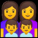 Android Oreo; U+1F469 U+200D U+1F469 U+200D U+1F466 U+200D U+1F466; Emoji