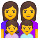 Android Oreo; U+1F469 U+200D U+1F469 U+200D U+1F467 U+200D U+1F466; Emoji