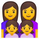 Android Oreo; U+1F469 U+200D U+1F469 U+200D U+1F467 U+200D U+1F467; Emoji