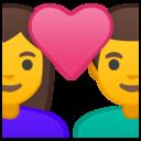 Emoji: 👩❤️👨 Android Oreo; U+1F469 U+200D U+2764 U+FE0F U+200D U+1F468
