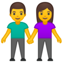 Android Oreo; U+1F46B; Emoji