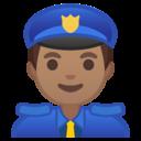 Android Oreo; U+1F46E U+1F3FD U+200D U+2642 U+FE0F; Emoji