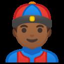Android Oreo; U+1F472 U+1F3FE; Emoji