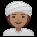 Android Oreo; U+1F473 U+1F3FD U+200D U+2640 U+FE0F; Emoji