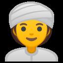Emoji: 👳♀️ Android Oreo; U+1F473 U+200D U+2640 U+FE0F