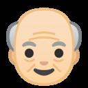 Android Oreo; U+1F474 U+1F3FB; Emoji