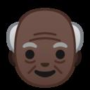 Android Oreo; U+1F474 U+1F3FF; Emoji