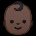 Emoji: 👶🏿 Android Oreo; U+1F476 U+1F3FF