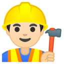 Emoji: 👷🏻♂️ Android Oreo; U+1F477 U+1F3FB U+200D U+2642 U+FE0F