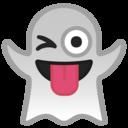 Emoji: 👻 Android Oreo; U+1F47B
