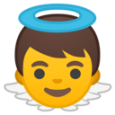 Android Oreo; U+1F47C; Emoji