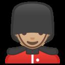 Emoji: 💂🏼 Android Oreo; U+1F482 U+1F3FC