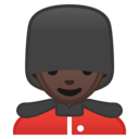 Emoji: 💂🏿♂️ Android Oreo; U+1F482 U+1F3FF U+200D U+2642 U+FE0F