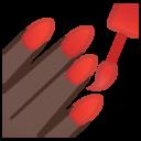 Android Oreo; U+1F485 U+1F3FF; Emoji