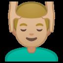 Emoji: 💆🏼♂️ Android Oreo; U+1F486 U+1F3FC U+200D U+2642 U+FE0F