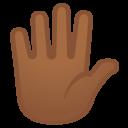 Android Oreo; U+1F590 U+1F3FE; Emoji
