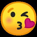 Android Oreo; U+1F618; Emoji