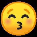 Android Oreo; U+1F61A; Emoji