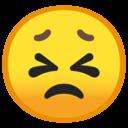 Emoji: 😣 Android Oreo; U+1F623