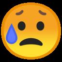 Android Oreo; U+1F625; Emoji