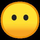 Android Oreo; U+1F636; Smiley ohne Mund Emoji