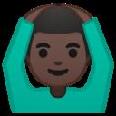 Android Oreo; U+1F646 U+1F3FF U+200D U+2642 U+FE0F; Emoji
