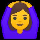 Android Oreo; U+1F646 U+200D U+2640 U+FE0F; Emoji