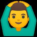 Emoji: 🙆♂️ Android Oreo; U+1F646 U+200D U+2642 U+FE0F
