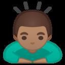 Android Oreo; U+1F647 U+1F3FD; Emoji