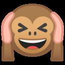 Android Oreo; U+1F649; Scimmia Non Sentire Il Male Emoji