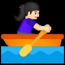 Emoji: 🚣🏻♀️ Android Oreo; U+1F6A3 U+1F3FB U+200D U+2640 U+FE0F